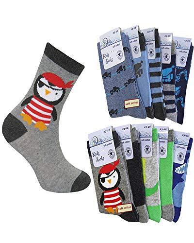 C&C KIDS Kinder Socken,10Pack,27/30,Mehrfarbig/Jungen -