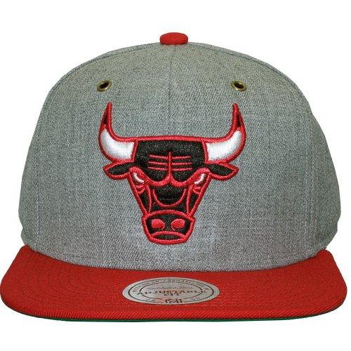 Mitchell & Ness - Casquette Strapback Homme Chicago Bulls Vintage Heather Grey Wool