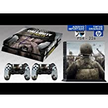 Elton Call Of Duty WWII Theme 3M Skin Sticker Cover For PS4 Console And Controllers