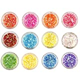 #7: Foolzy 12 Boxes Nail Flakies Sequins Colorful Round Glitter Paillette Manicure Nail Art Decoration