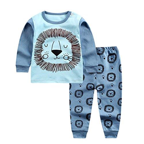 cfe0d8ae53048 Mounter Ensemble Bébé, Bébé Fille Garçon Manches Longue Accueil [ Lion ]  Costume de Pyjamas