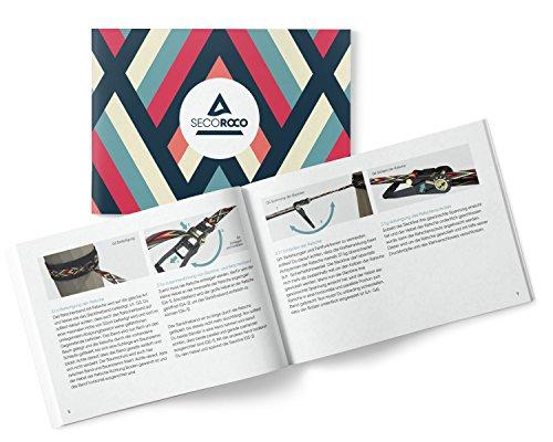 Slackline Set in einzigartigem Design - In 35m Länge & 5cm Breite, Muster