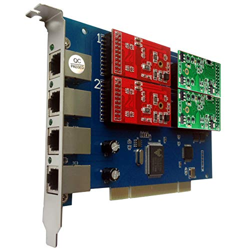 TDM410P mit 2 FXO+2 FXS,PCI 4-Port Asterisk Karte,Issabel,AsteriskNow,Freepbx,VoIP Asterisk -