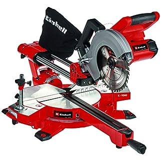 Einhell 4300880 Tronzadora-ingletadora con batería, Rojo, Negro