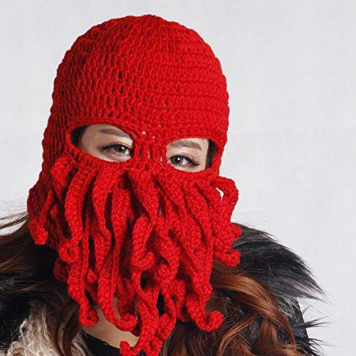 EQLEF® 1 pezzo cappello di lana Tessuti a mano forma Octopus per uomini e donne