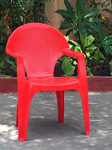 nilkamal Plastic Armchair (Brown and Beige)