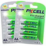 AA Size Ready To Use NiMh Rechargeable Battery 1.2v 600mAh (8pc--2cards)