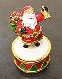 The Good Life magnifiquement decorato musicale Carosello Girasole musicale in ceramica di Santa Figurine melodia: Babbo Natale arriva in città