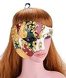ZYABCDG Maschera da Uomo di Design Vintage Maschera Maschile Fantasma dell'Opera Masquerade Maschera Mezza per la Festa in Maschera,2