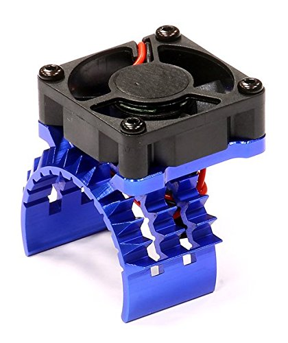 integy-rc-hobby-t8635blue-t2-motor-heatsink-w-cooling-fan-for-traxxas-1-10-stampede-4x4-slash-4x4