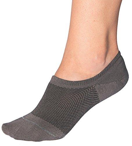 Bambu Women's Premium Bamboo No Show Socks - 4 pairs - Non-Slip