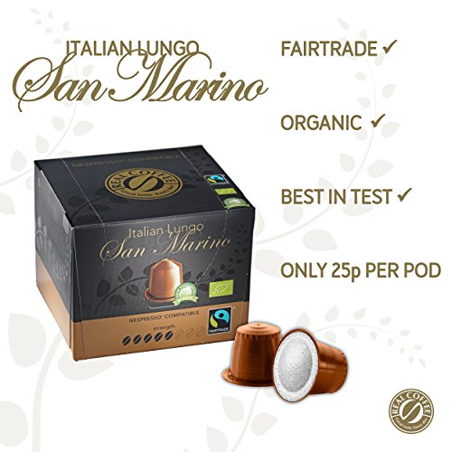 Purchase Real Coffee - 100 Fairtrade & Organic Nespresso Compatible Pods from Real Coffee