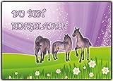 Einladungskarten Pferde zum Kindergeburtstag Geburtstag Kinder 12 Stück im günstigen Set für Mädchen Girls & Jungen Party-Einladung Pony Pferdefreunde Pferdegeburtstag