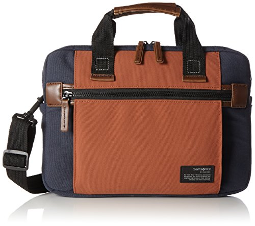 "Samsonite Sideways Laptop Sleeve 13.3"" Bolso Bandolera, 6.2 Litros, Color Azul/Naranja"
