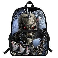 VEEWOW 16-Inch Hot Sale Character Bagpack for Boys Skull Backpack for Kids Girls School Bookbag (D1008)