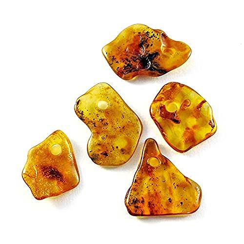 Colgante piedra Ámbar en forma irregular- 100% Natural del Báltico- Piedra preciosa de joyería con propiedades curativas