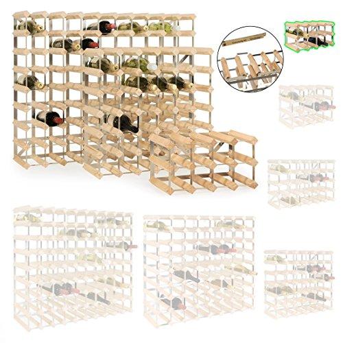 Weinregal / Flaschenregal System TREND, für 12 Fl., Holz Kiefer natur, komplett montiert, stapelbar...