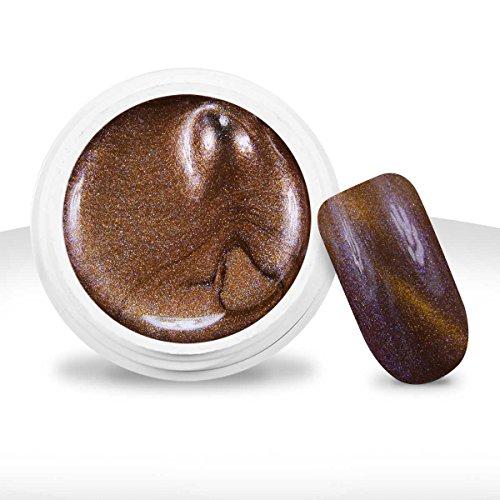 Ocibel - Gel UV/LED Couleur Magnétique Cat Eye Metallisé Miel - 5ml - Manucure, Faux Ongles et Nail Art
