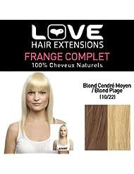 Love Hair Extensions - LHE/FRA1/QFC/CIF/10/22 - 100 % Cheveux Naturels - Frange Complete - Couleur 10/22 - Blond...
