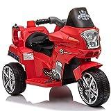 Homcom Moto électrique pour Enfants Chopper Police 6 V env. 3 Km/h 3 Roues Effet Lumineux et sonore...