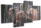 Bold Bloc Design - MMA UFC Jon Bones Jones Sports 240x135cm MULTI Boite de tirage d'Art toile encadree photo Wall Hanging - a la main dans le UK - encadre et pret a accrocher - Canvas Art Print