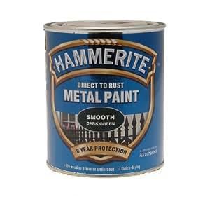 ICI 5092825 750ml Hammerite Metal Paint Smooth - Dark Green
