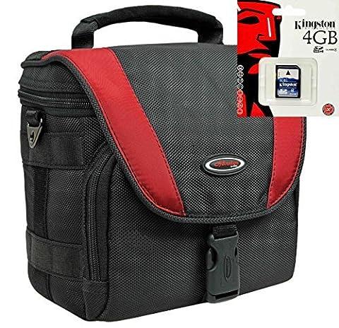 Foto-Tasche Kameratasche X-TREME PRO Set mit 4 GB SD Speicherkarte