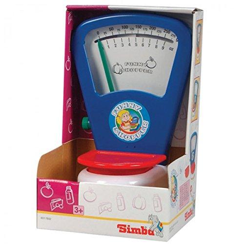 SIMBA Junior Waage mechanisch 25 cm (H) Kaufmannsladen Zubehör Kaufladen Kinderwaage NEU
