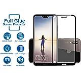 Huawei P20 Lite Screen Guard - Kohinshitsu Premium Edge To Edge Full Glue Tempered Glass Screen Protector For Huawei P20 Lite - Black Color