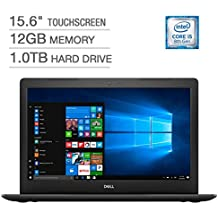"2018 Newest Dell Inspiron 15.6"" Full HD IPS Touchscreen Laptop, Intel Quad-Core I5-8250U Up To 3.4GHz 12GB DDR4 1TB HDD DVDRW MaxxAudio Pro 802.11ac Bluetooth Backlit Keyboard, Win 10 - Black"