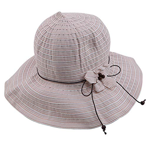 kemai Flower Sonnenhut Frauen Faltbare Packable Wide Brim Bucket Hat für Angeln Wandern Strandurlaub, Pink Pink Angel Hat