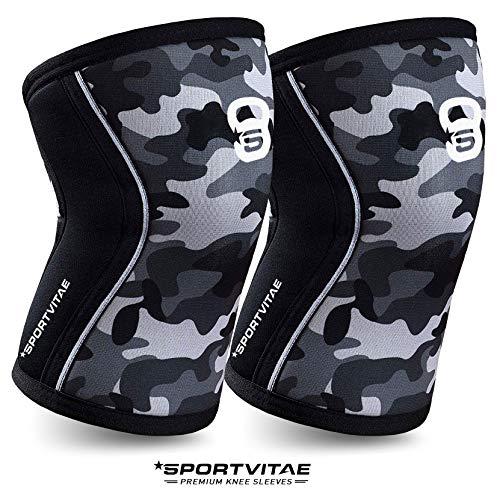Ginocchiere in neoprene 7mm | Knee Sleve | Ginocchiere Supporto e Compressione Crossfit Correre | per Uomo e Donna