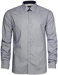 Pal Zileri Lab. Hommes Chemise manches longues Bleu 50087-04-P70M750, EUR taille:40