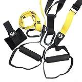 SHKAX Sling Trainer 6 In 1 Fitness Sling Türanker und Loops für Indoor- oder Outdoor-Training verbessern Kraft, Koordination und Balance