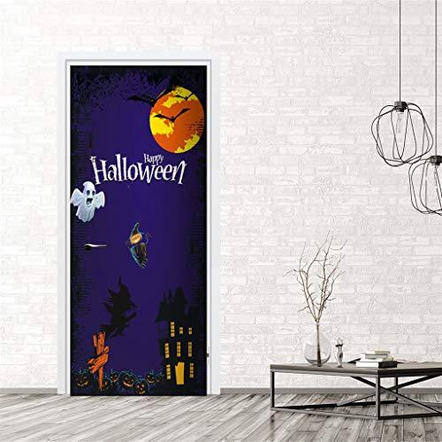 VICKY-HOHO Außenhandel Neue Halloween kreative lustige Tür Aufkleber Glas Fenster Aufkleber