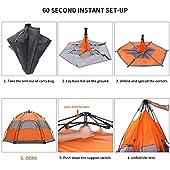 Tenda-Campeggio-HOSPORT-Tende-Familiari-Istantanee-Pop-Up-Unisex-4-Persone-Impermeabile-Tenda-Per-Trekking-Da-Esterno
