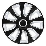 16 Zoll Bicolor Radzierblenden STRATOS RC DC (Schwarz mit Silber). Radkappen passend für fast alle OPEL wie z.B. Astra F