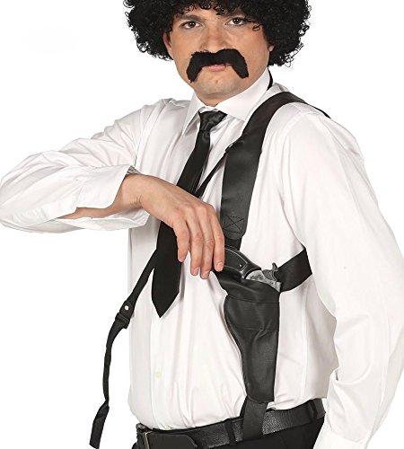 Schwarzes Gangster Pistolenholster Halfter Brustholster Holster Polizist (Kostüm 007 Agent)