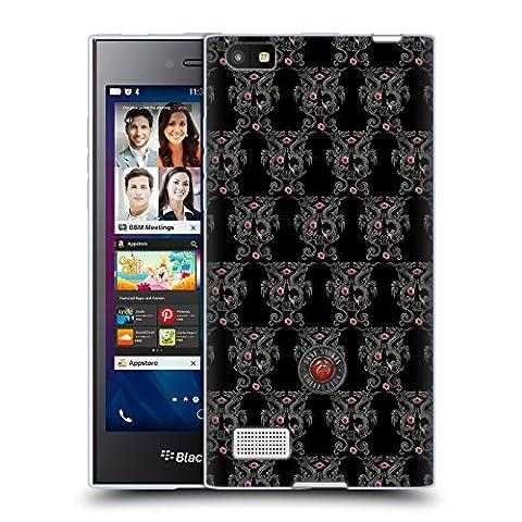 Offizielle Anne Stokes Drachen Und Kirschblüte Motif Muster Soft Gel Hülle für BlackBerry Leap
