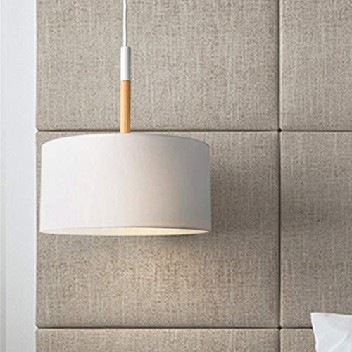 Esszimmer-modern-bett (Noodei Moderne wohnzimmer esszimmer studie schlafzimmer bett warme einkopf tuch pendelleuchte nordic neue einfache beleuchtung (Farbe : Weiß-AC 220V-Kaltes Weiß))