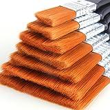 SZHTSWU Brocha de Pintor 7Pz Pinceles para Pintura al óLeo Artista Dibujo Pincel Pegamento Pintura de Muebles de La Pared de Polvo de Limpieza