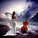 Diamond Painting,Hearts Fairy DIY Diamond Cross Stitch Pictures Painting Number Kit 5D Crystal Rhinestone Embroidery Painting Kits DIY Wall Art Decor (Butterfly Fairy, 30 * 30cm)