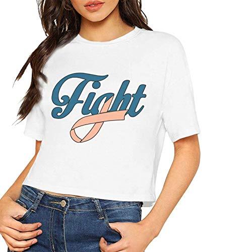 Mujeres Sexy Camisetas Manga Corta Lucha contra cáncer