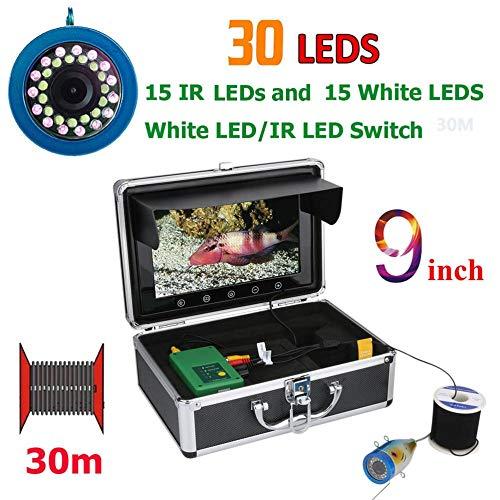 gfjfghfjfh Visuelle Fischfinder Unterwasserfischen Kamera 9 Zoll High Definition Display Monitor 90 Grad Betrachtungswinkel LCD-Bildschirm