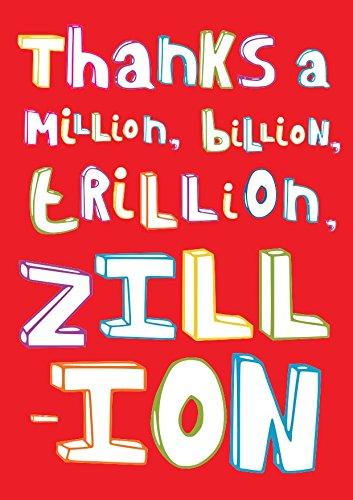 Dankeskarte Thanks a Million Zillion, 10Stück