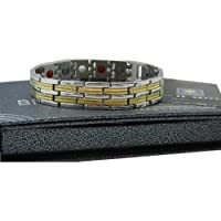 Bioexcel Stone and Energy Bracelet-Silver with Double Gold Line Design preisvergleich bei billige-tabletten.eu
