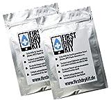 FirstDryKit - danni d'acqua al telefono cellulare - pronto soccorso per cadute in acqua e diventare telefoni cellulari bagnate, iPhone, Galaxy, Nexus, HTC, smartphone - 2x Kit di primo Dry - 23 x 15,5 cm