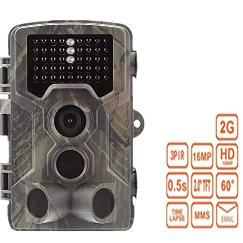 QUARKJK Wildlife Camera 12MP 1080P Trail Game Camera Motion Activated Infrared Night Vision with 2.0