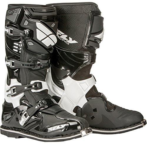 Fly Racing Motocross-Stiefel Sector Schwarz Gr. 46 -