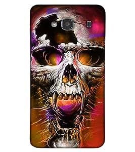 Fuson 3D Printed Skull Designer back case cover for Xiaomi Redmi 2S - D4463
